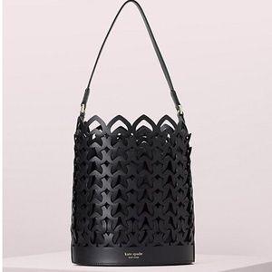 Kate Spade Dorie Runway Black Medium Bucket Bag
